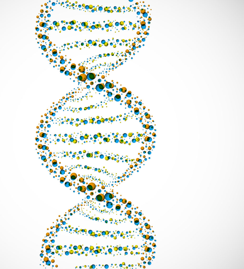 DNA molecule of spheres. Eps 10